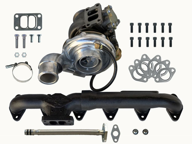 DPS Turbo & Exhaust Manifold Package for 12V & 24V Fummins (Ford/Cummins Conversions) T-3